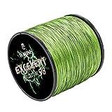 Waline Super Strong - Sedal de pesca trenzado (300 m, 500 m, polietileno, 8 hebras, 20 lb-80 lb, color verde militar, 30 lb/0,23 mm/500 m)