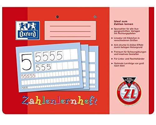 Oxford 100050304 Zahlenlernheft, A4 quer, ZL, 16, robuster, abwischbarer Deckel