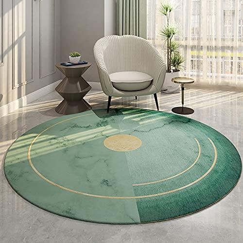 CMX-BOX Tappeti di Area Verde 80 cm 100 cm 120 cm 140 cm 160 cm 180 cm 200cm Tappeto Rotondo per Uso Domestico Soggiorno Sala di Lettura del Divano tavolino tavolino tavolino Tappetino tappetini