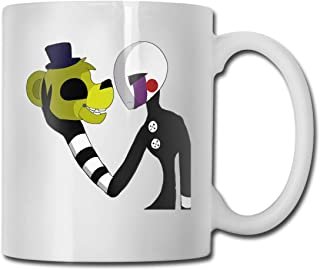 Guo Jiajun Five Nights at Freddy FNAF Ceramic Mug Coffee Cup Teacup Office and Home Capacity 330ml White One Size