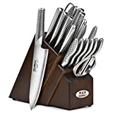 Global Knife Set - 20 Piece, Walnut Block