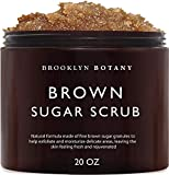 Brooklyn Botany Brown Sugar Body Scrub - Great as a Face Scrub & Exfoliating Body Scrub for Acne Scars, Stretch Marks, Foot Scrub, Great Gifts For Women - 20 oz