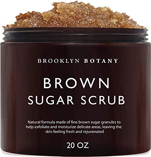 Brooklyn Botany Brown Sugar Body Scrub - Great as a Face Scrub & Exfoliating Body Scrub for Acne Scars, Stretch Marks, Foot Scrub, Great Gifts For Women - 20 oz