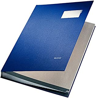 Leitz Signature Book 20 Compartments Durable Blotting Card 340x240mm Blue Ref 5700-00-35