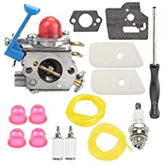 Carburetor replace 545081850 545006060 545130001 545081848 C1Q-W38 C1Q-W40A For Craftsman Brush Cutter 358792030 358792031 358792032 358792033 For Husqvarna 124L 125L 125LD 125R 125RJ 128C 128CD 128L 128LD 128LDX 128R 128RJ 128DJX String Trimmer Brus...