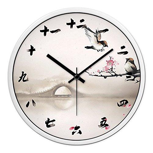 GZLIUXM Reloj De Pared Ikea Reloj De Pared Sala De Estar Madera...