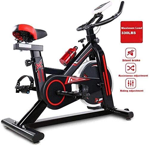 CLI Cyclette Indoor Fitness Stazionaria Bike Home And Gym Esercizio di Allenamento Attrezzature Professionali con Sedile Comodo Regolabile a LED Adatto per Ufficio