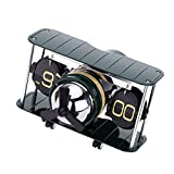 Auto Flip Clock Vintage Retro Table, Acero, Movimientos inteligentes, AM / FM Display, Silencioso, Preciso, para la cocina, Hogar, Decoración de la pared, Regalo (Army Jet)