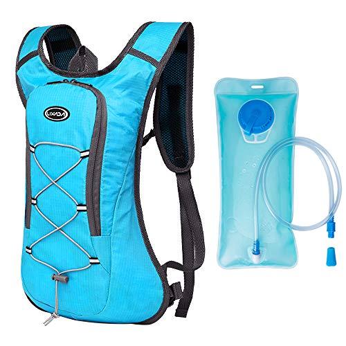 atmungsaktiver ultraleichter Fahrradrucksack Outdoor Sport Radfahren Camping Wandern Laufen Trinkrucksack Tasche mit 2L Wasserblase