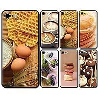 スマホケース ラウンド ガラス パンケーキ バター コーヒー 02:タマゴ iphone12 iphone12pro