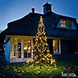 Fairybell LED Weihnachtsbaum, 360 Lichter, warmweiß, inkl. Mast, ca. 300x150 cm