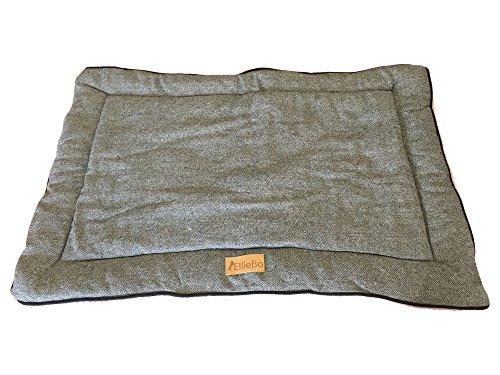 Ellie-Bo omkeerbaar Tweed en kunstbont, grijs mat bed voor extra grote 106,7 cm hond Puppy kooien en kisten