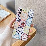 Coque de téléphone pour iPhone 12 Mini 12 11 Pro X XR XS Max 7 8 Plus Se 2 Mode Cartoon Smile Face...
