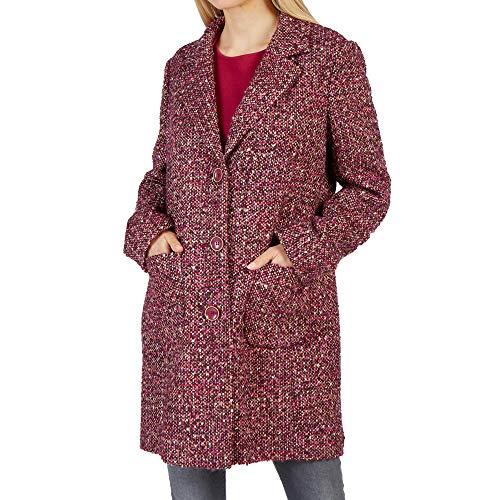 Betty Barclay 4350 8010 Damen Mantel mit Reverskragen Knopfverschluss Meliert, Groesse 42, Bordeaux/beige/meliert