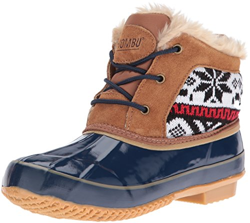 Khombu Women's Jazzy Snow Boot, Tan/Navy, 6 M US