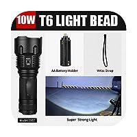 sexy-kawayi LED懐中電灯18650 26650トーチ防水懐中電灯クリーXML t6 1000ルーメンズーム可能なライト-1007 T6 10w Super-