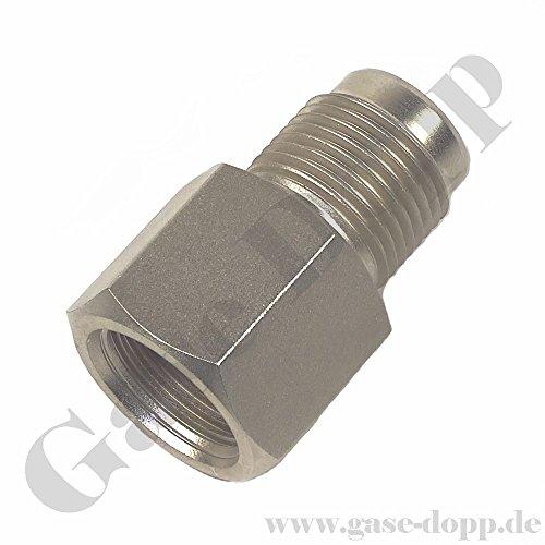 """Reduzierung G 5/8"""" RH AG x G 5/8"""" RH IG - Druckluft Adapter - G 5/8"""" 300 Bar außen - (auf) G 5/8"""" 200 Bar innen - Adapter Gewinde Reduzierstück von Gase Dopp"""