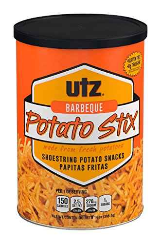 Utz Barbeque Shoestring Potato Stix 14 oz. (2 Containers)