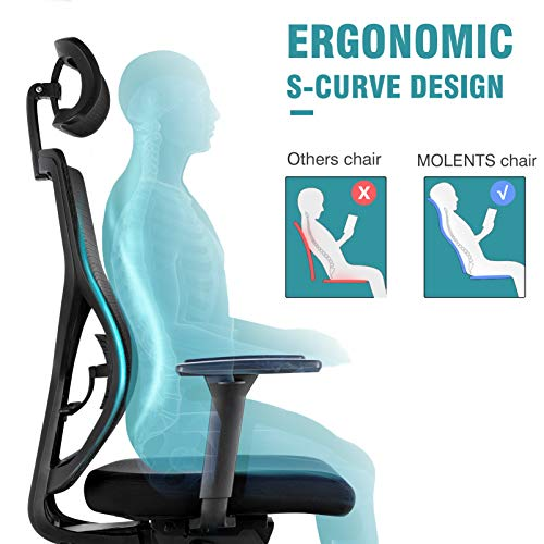 MOLENTS Ergonomic Executive Office Chair High-Back Computer Chair with Adjustable Seat Depth,Breathable Mesh Desk Chair, Swivel Task Chair for Home Office