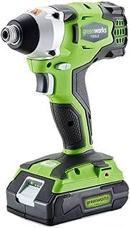 Greenworks 3801507 Destornillador de Impacto 1/2 sin Escobillas Inalámbrico, 24 V, Verde