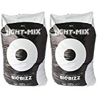 BioBizz BBLM50L Light-Mix 50L Organic Farming Plant Growing Mix Substrate Bag for Indoor and Outdoor Hydroponic Gardens (2 Pack)