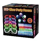 Wesimplelife 60er LED Glühen Blinkende Spielzeuge Licht Oben Gastgeschenke Spielzeug-Set...