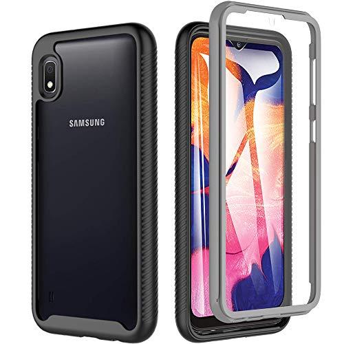 OWKEY Samsung Galaxy A10 Hülle 360 Grad Schutzhülle Bumper Case Transparent Cover mit eingebautem Displayschutz Stoßfest Ganzkörper Handyhülle für Samsung Galaxy A10, 6.2 Zoll