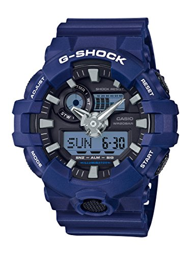 Casio Men's G Shock Quartz Watch with Resin Strap, Blue, 25.8 (Model: GA-700-2ACR)