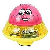 NTOW 2 In 1 Induktions-Wassersprühspielzeug & Space UFO Mit Musik Und Blinklichtern Kleinkinder Elektrische Induktions-Wassersprühballspielzeug Baby Badezimmer Spielendes Wasserbadespielzeug