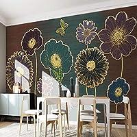 Empty 写真の壁紙3Dロマンチックな美しい森湖白鳥油絵壁画ギャラリーリビングルームの背景壁の装飾壁紙3D-120x100CM