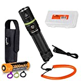 Fenix UC30 2017 Edition 1000 Lumen USB Rechargeable LED Flashlight with Fenix Soft High-Strength Lanyard, Rechargeable Battery and LumenTac Battery Organizer