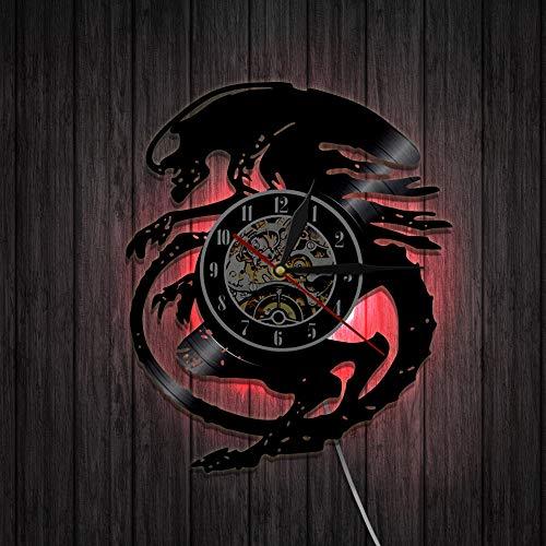 N/Z Reloj de pared de vinilo Alien Wars Predator Warrior Rec