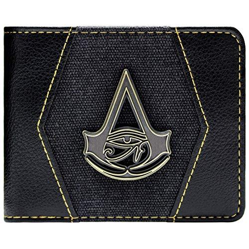 Assassins Creed Origins Goldwappen Schwarz Portemonnaie Geldbörse