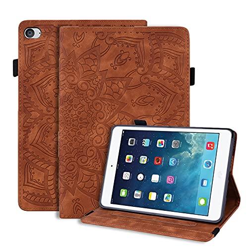 LundBtech Hülle für iPad Mini 5 2019/ iPad Mini 4 Schutzhülle Dünn PU Leder Flip Cover mit Auto Schlaf/Wach Funktion & Stifthalter, für iPad Mini 7.9 Zoll, iPad Mini 1 2 3 4 5 Tablette, Braun