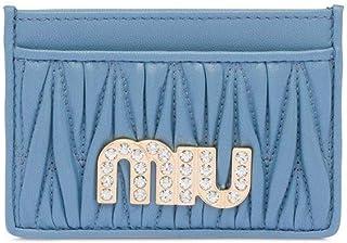 Luxury Fashion   Miu Miu Womens 5MC2082BSQF0637 Light Blue Card Holder   Spring Summer 20