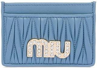 Luxury Fashion | Miu Miu Womens 5MC2082BSQF0637 Light Blue Card Holder | Spring Summer 20