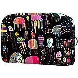 Neceser de viaje, bolsa de viaje impermeable de alta calidad con cremallera actualizada, patrón de medusas pintadas colorido 18,5 x 7,5 x 13 cm