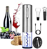 Electric Wine Bottle Opener,Cordless Automatic Electric Corkscrew Bottle Opener Set with Foil Cutter