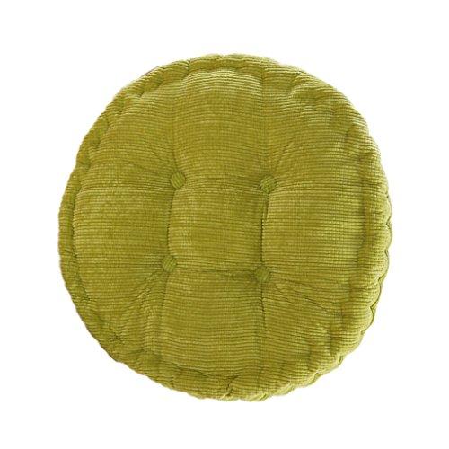 Runde Baumwolle Stuhl Sitzkissen Polster Tatami Kissen Für Haus Auto Büro - Grün