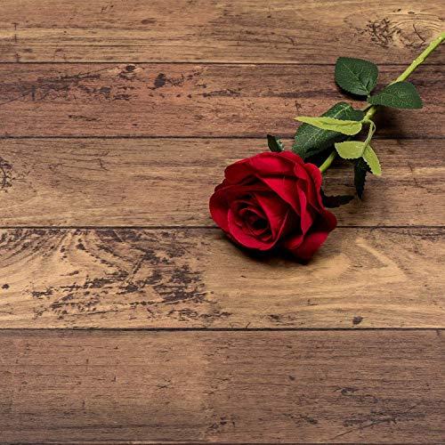 壁紙ステッカー防水と防湿防汚汚れやすい木目DIY 家具 壁 キッチン 浴室 テーブル リフォーム 45cm X 10m (木目ダークブラウン)