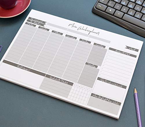 Wochenplaner Notizblock A4 To-Do's, Termine, Habbit-Tracker, self-care, Top Wochenziele und Aufgaben