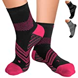 TechWare Pro Plantar Fasciitis Sock – Therapy Grade Targeted Cushion Compression Socks Men & Women. Ankle Brace Foot Sleeve with Arch Support for Achilles Tendonitis & Heel Pain Relief 1 Pair