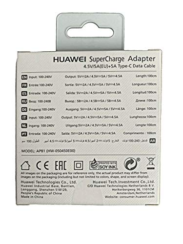 Netzteil Ladekabel Ladegerät Huawei Original Supercharge Type-C P20 Pro, Mate 10 Pro, Mate 20 Pro, 5A 5V Fast Charge Charger Schnellladekabel AP81 Blister Verpackung offizielle - 2