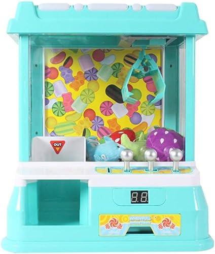 Depruies Mini-Fangpuppe für Kinder, Spielzeug, Haushalt Musik, Candy Clip, Spielzeug für den Innenbereich, ideal LED-Lichter, Mini-Krallenspielzeug, für Jungen und mädchen B Grün