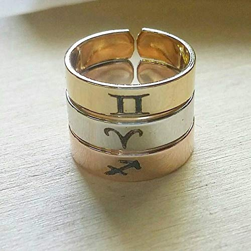 Personalized Rings Metal Rings Stamped Rings Zodiac Rings