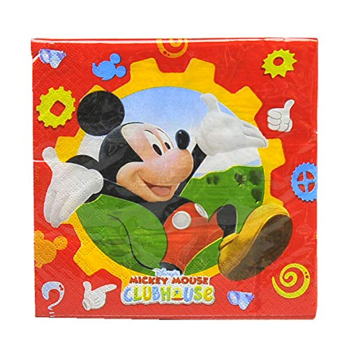 Amscan Serviettes de Table Mickey Club House