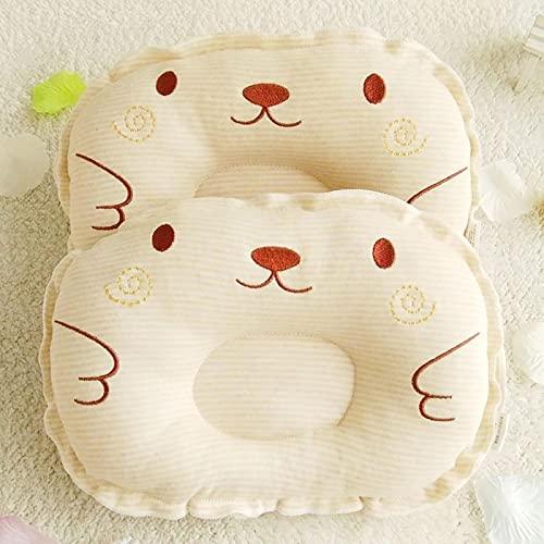 2 uds.Almohada antivuelco para dormir para bebés recién nacidos, posicionador para bebés, evitar cojín de cabeza plana, almohadas adorables y bonitas para bebés