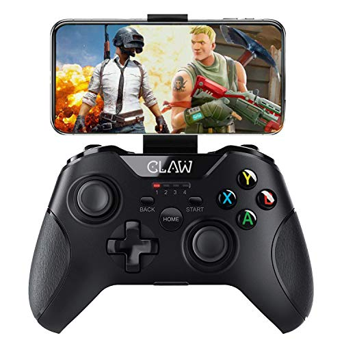 CLAW Shoot Bluetooth Mobile Gamepad Controller for Android Phones, Tablets & Windows PC, Laptops with Button Mapping Feature, Detachable Mobile Holder, 8 Hours Play Time & Rubberized Textured Grip