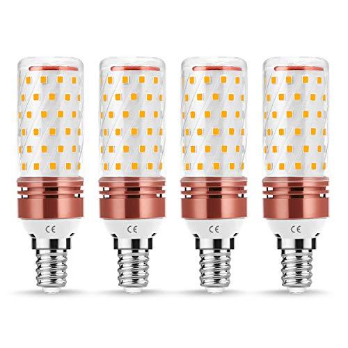 Lohas E14 LED-kaarslamp 12W = 100W gloeilampen 3000K maïs licht warm wit LED-lamp 1350 lumen niet dimbaar 360 graden stralingshoek 220V 230V 240V pak van 4