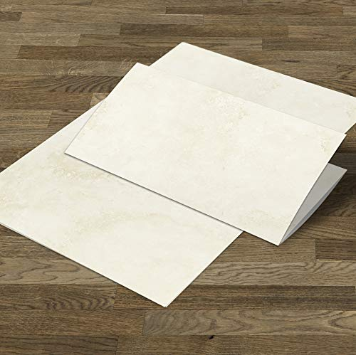 Mamoriertes Briefpapier DIN A4 | beidseitiges Marmor-Motiv in beige | 90g Offsetpapier beschreibbar bedruckbar bestempelbar | 25 Blatt